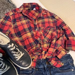 Bright Gorgeous Flannel, Ready for Fall!